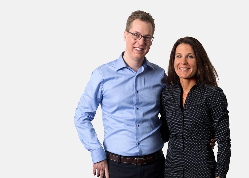 Mathias und Sonja Rebsamen von der Pilgerbrunnen Rotpunkt Apotheke