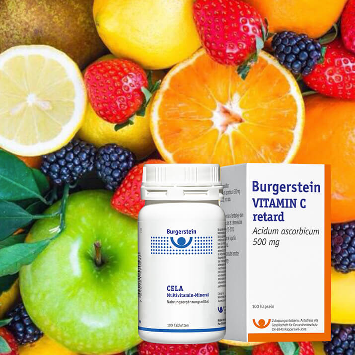 Burgerstein Vitamintage in der Pilgerbrunnen Rotpunkt Apotheke